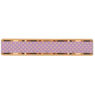 薄紫の紫色の水玉模様パターン キーラック