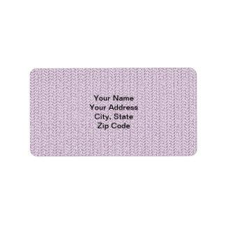 薄紫の紫色の織り方の網の一見 ラベル