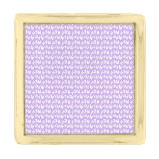 薄紫の紫色の認識度の蝶 ゴールド ラペルピン