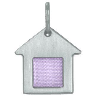薄紫の紫色の認識度の蝶 ペットネームタグ