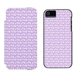 薄紫の紫色の認識度の蝶 INCIPIO WATSON™ iPhone 5 ウォレット ケース