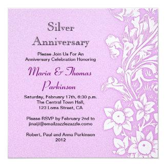 薄紫の結婚記念日 カード