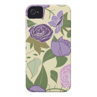 薄紫の絹のバラ Case-Mate iPhone 4 ケース