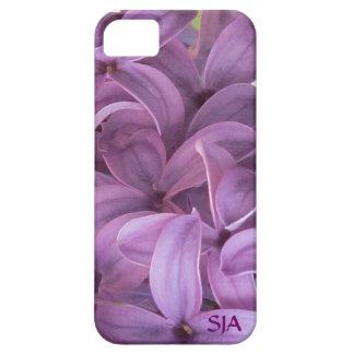 薄紫の花のデザインのiPhone 5の穹窖 iPhone SE/5/5s ケース