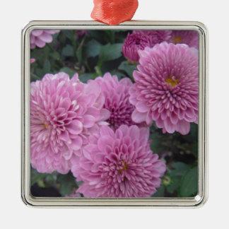 薄紫の花のラベンダーの花柄 メタルオーナメント