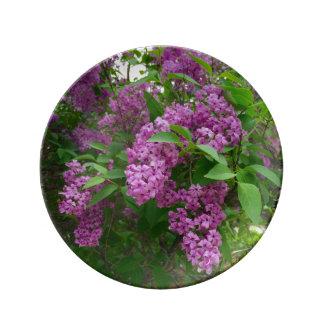 薄紫の花の磁器皿 磁器プレート