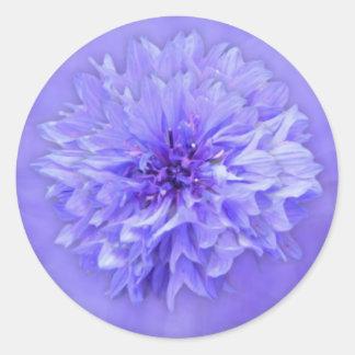 薄紫の花柄の封筒用シール ラウンドシール