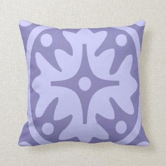 薄紫の花柄の抽象芸術 クッション