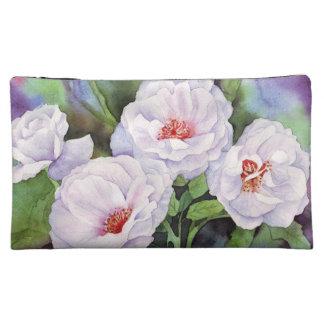 薄紫の花 コスメティックバッグ