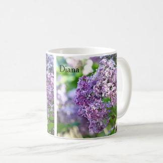 薄紫の花 コーヒーマグカップ