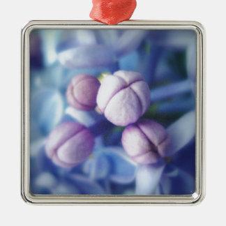 薄紫の花 メタルオーナメント