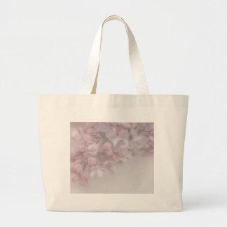薄紫の花 ラージトートバッグ