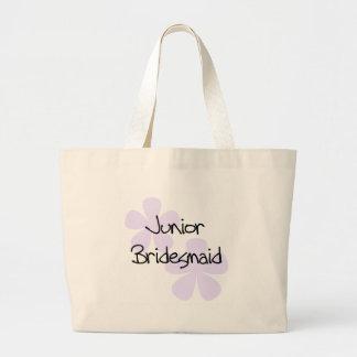 薄紫の花Jr.の新婦付添人 ラージトートバッグ