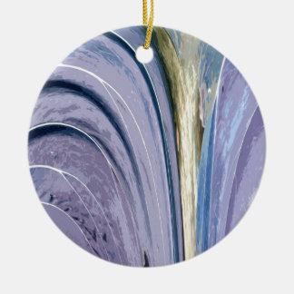 薄紫の葉 セラミックオーナメント