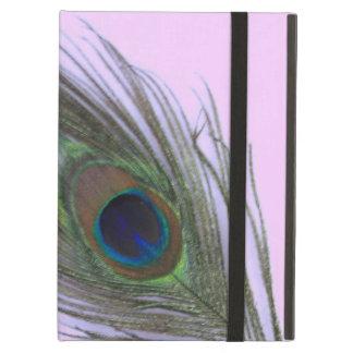 薄紫の薄紫の孔雀の羽 iPad AIRケース