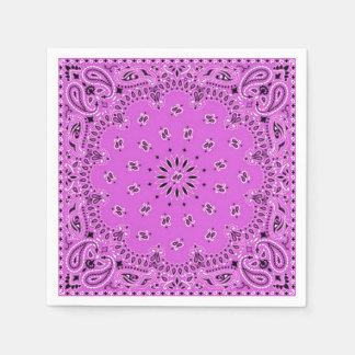 薄紫の蘭のピンクのペイズリーのバンダナのスカーフBBQのピクニック スタンダードカクテルナプキン