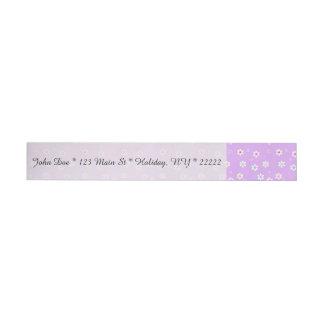 薄紫の虹のデイジー ラップアラウンド宛名ラベル