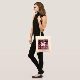 薄紫の蝶予算のトート トートバッグ