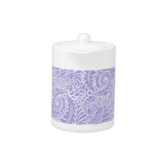 薄紫の青い花柄のねじれ