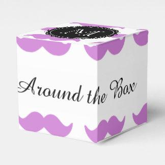 薄紫の髭パターン、白黒のモノグラム フェイバーボックス