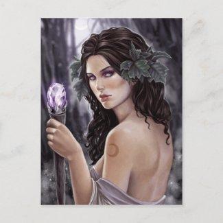 薄紫の魔法 はがき