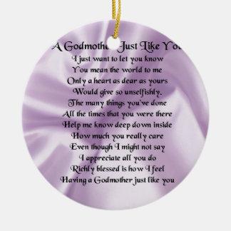 薄紫の   教母の詩 セラミックオーナメント