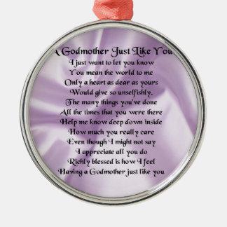 薄紫の   教母の詩 メタルオーナメント