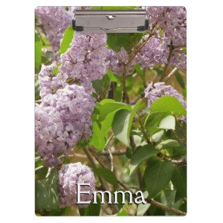 薄紫ブッシュの美しい紫色の春の花 クリップボード