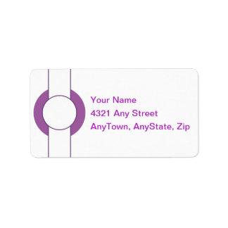 薄紫、カスタマイズ可能な宛名ラベル ラベル