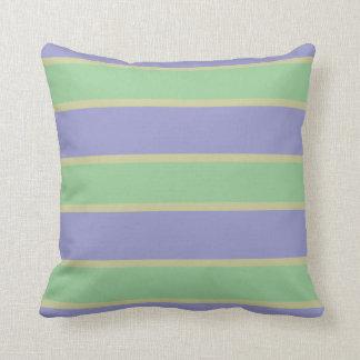 薄紫/ミントのストライプでカスタムな装飾用クッション クッション