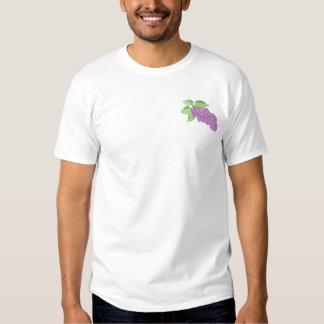 薄紫 刺繍入りTシャツ