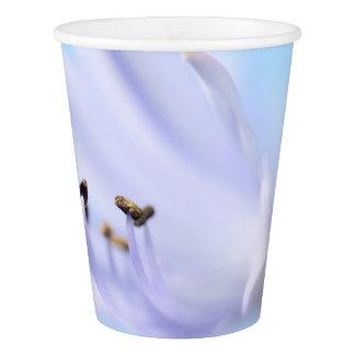 薄紫/青い花のパーティーの紙コップ 紙コップ