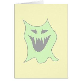 薄緑および灰色モンスターの漫画 カード