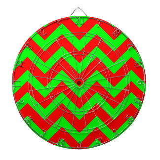 薄緑および赤いシェブロン ダーツボード