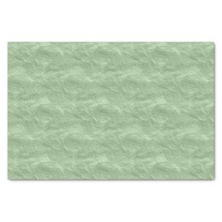 薄緑のしわを寄せられた一見 薄葉紙