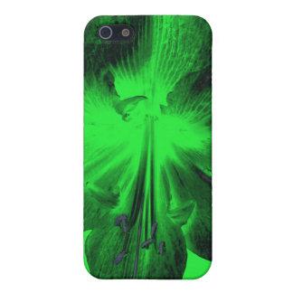 薄緑のアマリリスで深緑色 iPhone 5 ケース