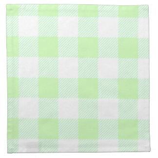 薄緑のギンガムの点検 ナプキンクロス