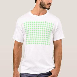 薄緑のギンガム Tシャツ