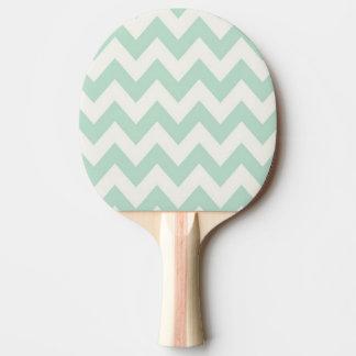 薄緑のシェブロン 卓球ラケット