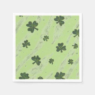 薄緑のシャムロックパターンカクテルの紙ナプキン スタンダードカクテルナプキン