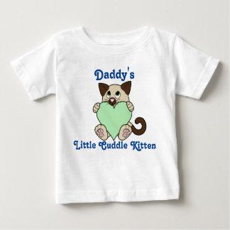 薄緑のハートのバレンタインデーのシャム猫 ベビーTシャツ