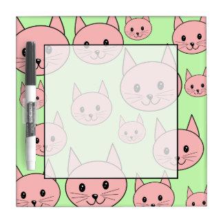薄緑のピンク猫。 ホワイトボード