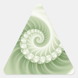 薄緑の化石の効果3Dのフラクタル 三角形シール