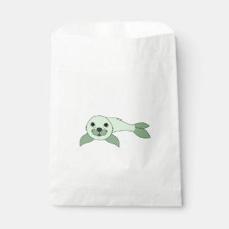 薄緑の子どものアシカ フェイバーバッグ