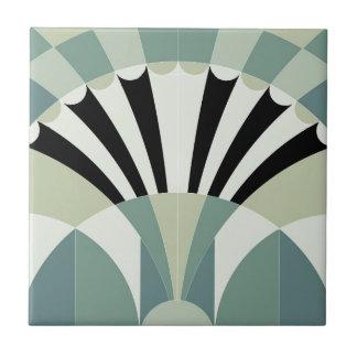 薄緑の幾何学的なライン タイル