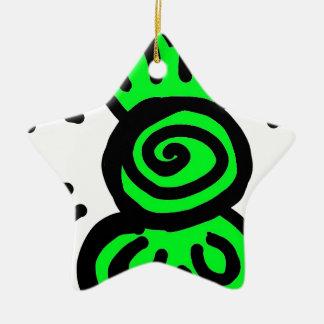 薄緑の弓引くことのデザイン セラミックオーナメント