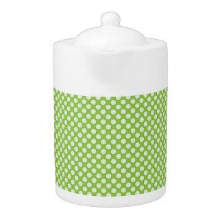 薄緑の水玉模様