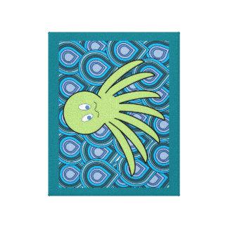 薄緑の海のOcto キャンバスプリント