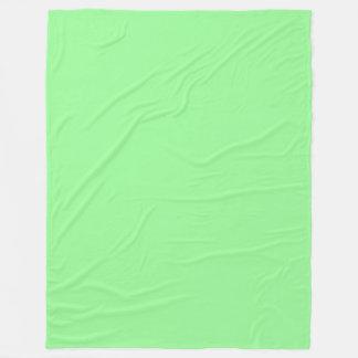 薄緑の(薄緑の)パステル調の無地 フリースブランケット