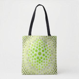 薄緑のDIYの絞り染めのスタイル- トートバッグ
